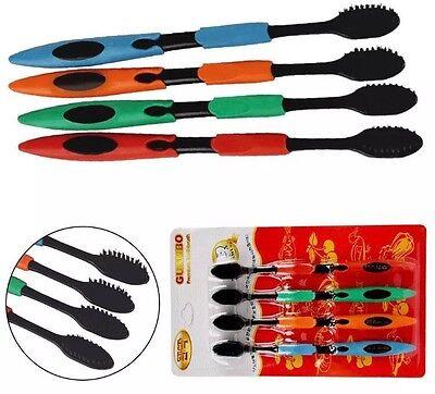 USA 4 Pk Quality Cand Ultra Soft Adult Toothbrush, Bamboo Charcoal Nano Bristle