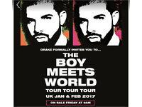 2x Drake tickets 14th Feb valentines London O2