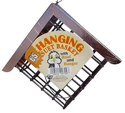 Birdfeeder Hanging Suet Bird Feeder with Copper Top by C&S