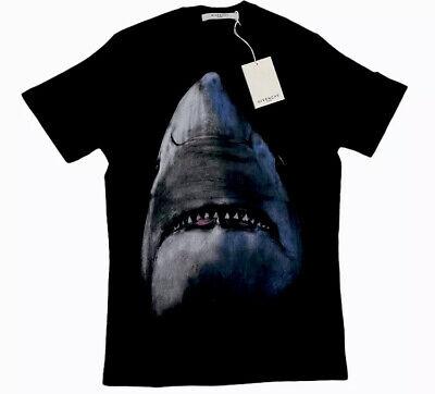 Givenchy T-shirt Men Medium Black Shark Authentic