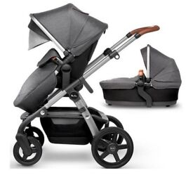 Silver Cross Wave Double Pushchair (RRP £995) + Tandem Chair (RRP £250)