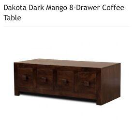 Dakota dark wood coffee table
