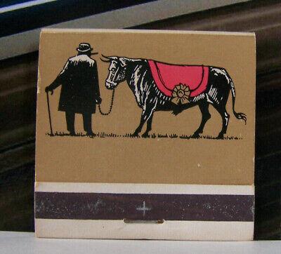 - Vintage Matchbook X1 West Hempstead New York Winston's Steak Pub Bull Cow Hat