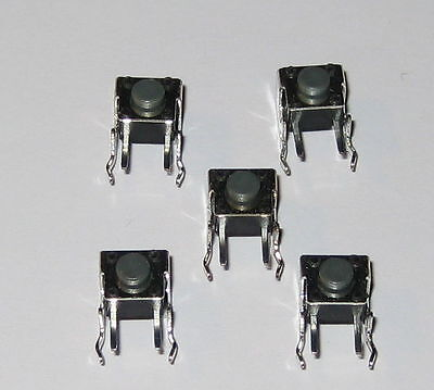 5 X Momentary Pushbutton Micro Switches - Right Angle Pc Board Mount - Pacer