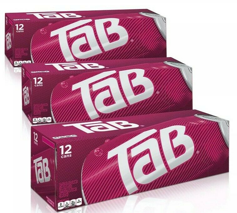 Tab Cola Soda 12 Pack (x3) (36 Pack) Brand New Unopened Discontinued