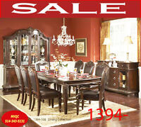 Model 1394-108, 9 pieces traditional dining room set.
