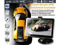 CAR GPS 5 Inches screen NAVIGATION+WIRELESS REVERSE CAMERA +8G HD AV-IN BLUETOOTH DDR128MB