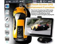 CAR GPS 5 Inches screen NAVIGATION+WIRELESS REVERSE CAMERA +8G HD AV-IN BLUETOOTH DDR128MB