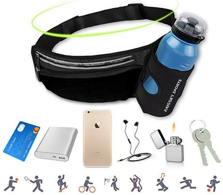 Waist Pack & Bottle Holder for Running, Hiking, Climbing, Ri