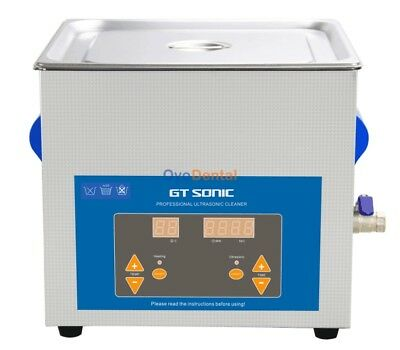 9l Gt Sonic Dental Vgt-1990qtd Professional Ultrasonic Cleaner Stainless Steel
