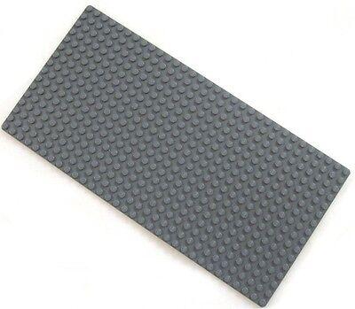 NEW DARK GRAY LEGO BASEPLATE 16X32 dot base board 10x5 inch