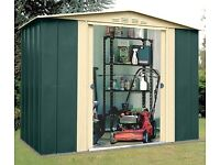 Brand new in box 8 x6 Greenvale metal shed