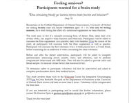 Feeling anxious? Participants wanted for a brain study