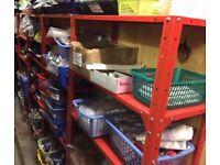 Metal shelving racking for sale, collection only