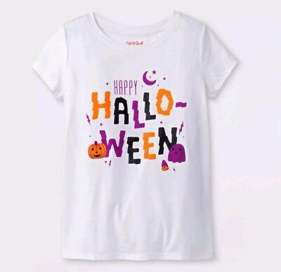 Jack White Halloween (Toddler Top White XL Cat & Jack™ Halloween Dizzy Orange and Gray Graphic)