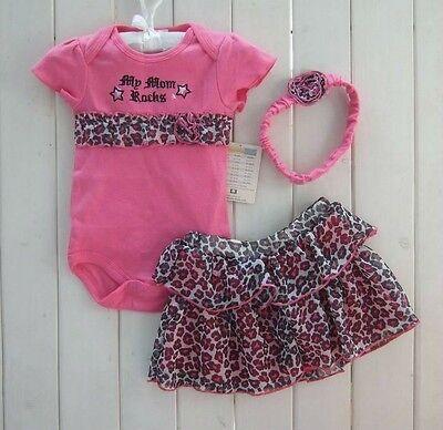 New Baby Girl Baby Girls Clothing Set 3PCS: headband+shirt+pant Princess Rose