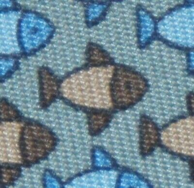 AUTHENTIC Hermes Paris Neck tie Silk Twill 7862 UA Fish