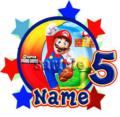 Super Mario Personalized T -Shirt Party Favor Birthday Gift present add name