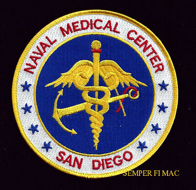 SAN DIEGO US NAVAL MEDICAL CENTER PATCH PIN UP US NAVY CORPSMAN DOCTOR DOC NURSE