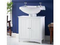 *Brand New* white under sink bathroom cabinet