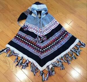 Brand New - Tibetan Wool Ponchos - Silk embroidered - 2 avail