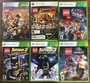 Xbox 360 Games *Lot of 6 LEGO Games* Including Jurassic World &