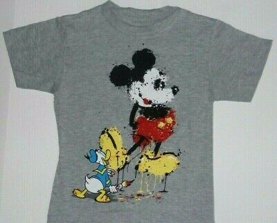 Disney Donald paint Mickey Mouse Tee Shirt New -