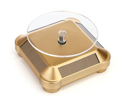 Solar Showcase 360 Turntable Rotating Jewelry Watch Rings Display Stand Gold