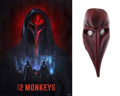 12 Monkeys: Screen Worn Red and Black Leaders Mask w/SyFy COA