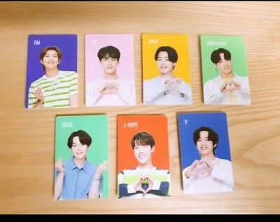 BTS Chilsung Cider Photo card full set 7pcs ALL MEMBERS Official limited edition