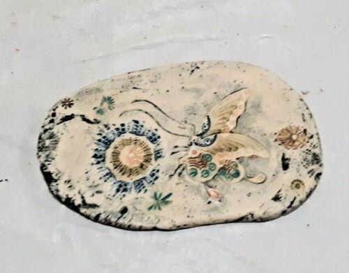 """Vintage EC Brinkman Bisque Butterfly Art Pottery 6.5"""" x 3.5"""""""