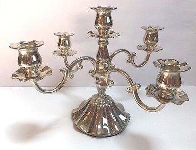 Vintage Candleabra silver plated 5 arm swivels candle holder