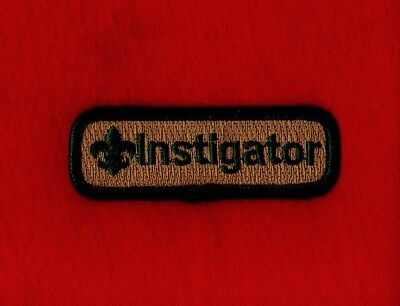 INSTIGATOR Spoof Comic Trained Patch Boy Cub Scout Leader Centennial Uniform BSA