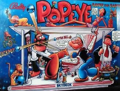 POPEYE Complete LED Lighting Kit custom SUPER BRIGHT PINBALL LED KIT