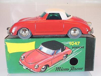 Nutz Schuco Nr. 1047 Micro Racer Porsche 356 rot Neuauflage Replica OVP #1339
