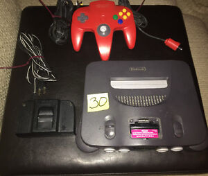Working Nintendo 64 . One controller and all cords