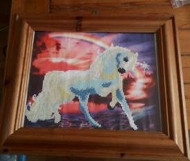 Unicorn diamond art Painting, child, children room, nursery, picture