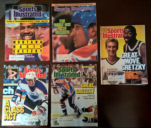 Collection of Sports Illustrated with Wayne Gretzky on Cover