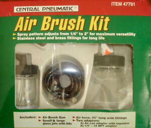 CENTRAL PNEUMATIC AIR BRUSH KIT NEW IN BOX