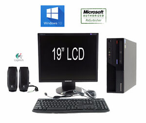 Windows 10 Computer Complete System with Monitor + Speaker