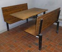 Table + banc banquette restaurant cafétéria table with bench