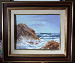 "Original Oil Painting by C. Saunders ""Shoreline"" OceanView"