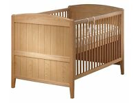 Babylo Wood Toscana Cot Bed and Cosatto Coolio Mattress