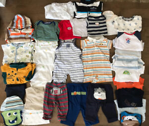 Baby boy 0-3m clothing, 35 items