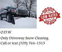 O.D.W Only Driveway Snow Clearing
