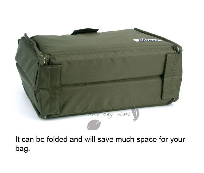 Details About Waterproof Padded Dslr Slr Camera Bag Lens Insert Bag Partition Lens Pouch Cover