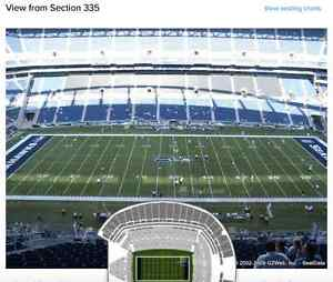 2 Tix-Seahawks Vs Panthers-Sec 335