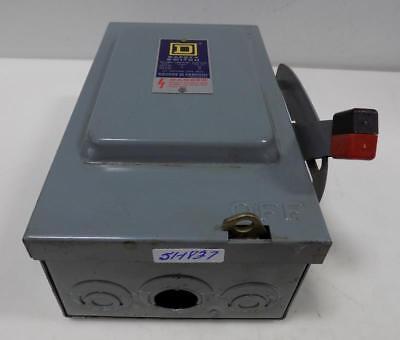 Square D 30a 600v Safety Switch Hu-361 Series E1