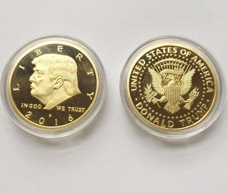 2016 Rare US President Donald Trump Republican Gold Eagle Collection Gift Coin