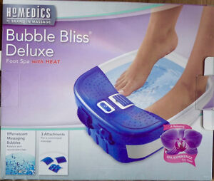 Bubble Bliss Foot Spa with Heat.